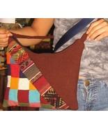 Ethnic handbag from Peru, Merino Wool  - $27.50