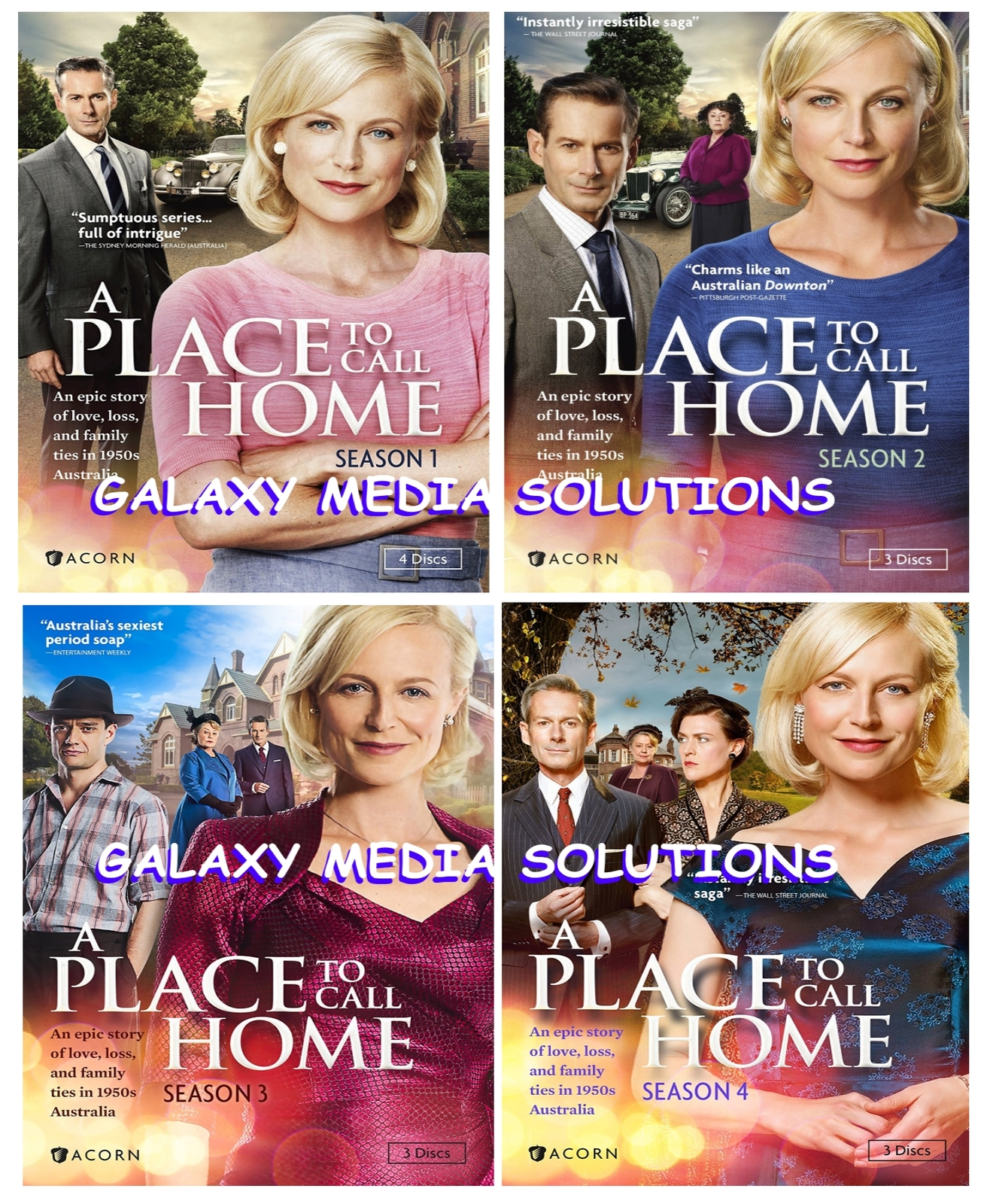 A Place to Call Home Season 1-4 DVD Bundle (13-Disc) 1 2 3 4 New Sealed