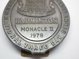 Vintage 1978 Monacle II Badminton Badge Medal Award International Metal image 2