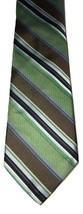 Robert Talbott Carmel Striped Brown Green 100% Silk Mens Tie Necktie - €26,25 EUR