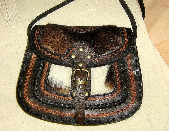 Handmade pure leather Handbag,ethnical look