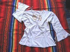 Folkloric embroidered shirt,longsleeve,pima Cotton - $43.00