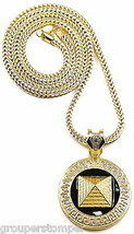 Pyramid New Pendant with 36 Inch Long Franco Style Necklace Egyptian King - $27.96