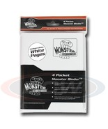 4-POCKET MONSTER PROTECTOR BINDER - MATTE WHITE WITH WHITE PAGES - $18.99
