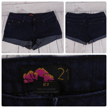 Forever21 Denim Jeans Shorts Color Dark Wash Blue Size-27  *C014 - $23.38