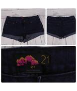 Forever21 Denim Jeans Shorts Color Dark Wash Blue Size-27  *C014 - $23.38
