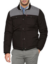 Levi's Men's Mixed Media Puffer Jacket Quilted Shirttail Two Tone Work Wear Coat image 2