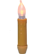 "2/Pk, 4"" Mustard LED Tapers Lighting Candles  - $19.00"