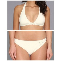 NWT JUICY COUTURE S swimsuit halter 2 pc terry daisy angel $147 bikini c... - $77.59