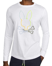Men's Psycho Bunny Long Sleeve Tee Sheffield Embroidered Logo White T-Shirt image 4