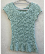 Anthropologie Knitted Knotted XSmall Marled Knit Sweater Short Sleeve Mi... - $18.75