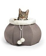 """Best Friends by Sheri 4-in-1 Kitty Pouch-Cuddler in Ilan, Grey, 14""""x14""""x10"""" - $18.83"""