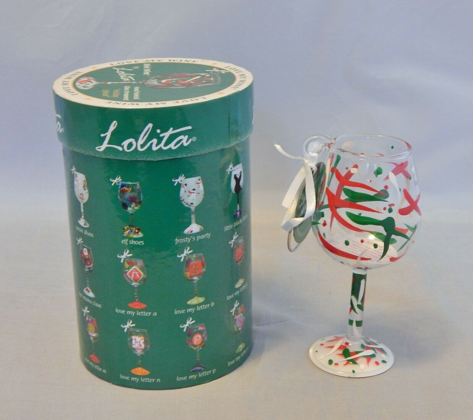 "Primary image for Lolita Love My Wine ""HOLIDAY SPLASH"" Christmas Ornament Mini Wine"