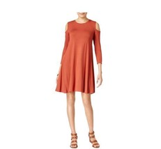Style&Co Size L Swing Dress Womens Cold-Shoulder 3/4 Sleeve A-Line Dress... - $16.99