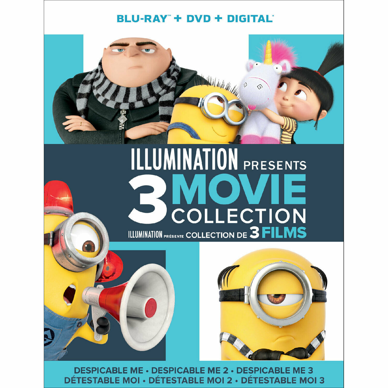 Illumination Presents: 3-Movies (Blu-ray/DVD/Digital, Canadian/Plays US) NEW