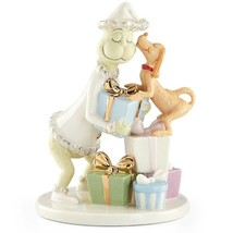 Lenox Max Steals A Kiss From Grinch Figurine Dr Seuss How Stole Christma... - $359.00
