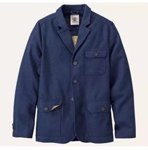$198 Timberland Men's MT. Hayes Wool Blend Dark Navy Travel Jacket #8238... - $98.99