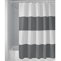 InterDesign Zeno Wide Striped Shower Curtain for Master, Guest, Kids', C... - $25.60