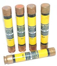LOT 5 BUSSMANN LPS-RK-15SP LOW-PEAK DUAL-ELEMENT FUSES LPSRK15SP