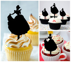 Ca050 Decorations cupcake toppers cinderella and prince charming dancing 10 pcs - $10.00