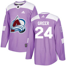 NHL A J Greer Men's Colorado Avalanche Fights Cancer Practice Jersey - P... - $1.285,23 MXN