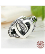 Authentic Pandora Sterling Silver Entwined Love Hearts Charm 791880CX - $25.99