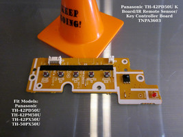 Panasonic TH-42PD50U K Board/IR Remote Sensor/Key Controller Board TNPA3603 - $13.10