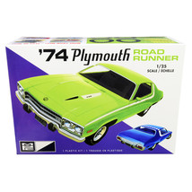 Skill 2 Model Kit 1974 Plymouth Road Runner 1/25 Scale Model by MPC MPC920M - $46.24