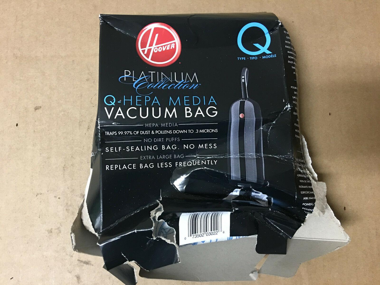 Hoover Vacuum Cleaner Bag AH10000 Platinum Type-Q HEPA (1) XL Bag ONLY