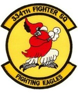 USAF 334th Fighter Squadron Fighting Eagles Patch Sticker - $9.89