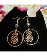 Pineapple Hoop Pearl earrings - $20.00