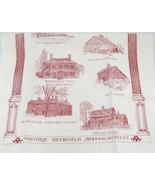 Historic Deerfield Massachusetts Cotton Tea Towel or Wall Hanging Souven... - $12.86