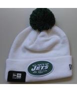 New Era NFL Unisex Beanie NEW YORK JETS White Green POM Football Beanie  - $20.00