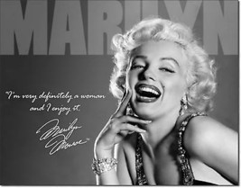 Marilyn Monroe Pin-Up Norma Jean Metal Sign Tin New Vintage Style USA #1532 - $10.29