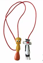 Vintage 1996 Tweety & Sylvester  Jump Rope Looney Tunes Hard Plastic Han... - $14.66