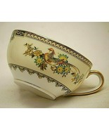 "Sheila Noritake 2"" Flat Tea Cup Tan Black Yellow Edge Birds c 1921 Disco... - $21.77"