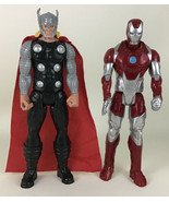 "Marvel Titan Hero Series Thor Figure Avengers Iron Man 2013 Hasbro 11"" C... - $19.75"