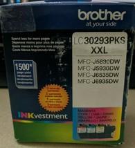 Brother LC 30293PK Ink Cartridge, Yellow/Cyan/Magenta - 3-pack - $44.54