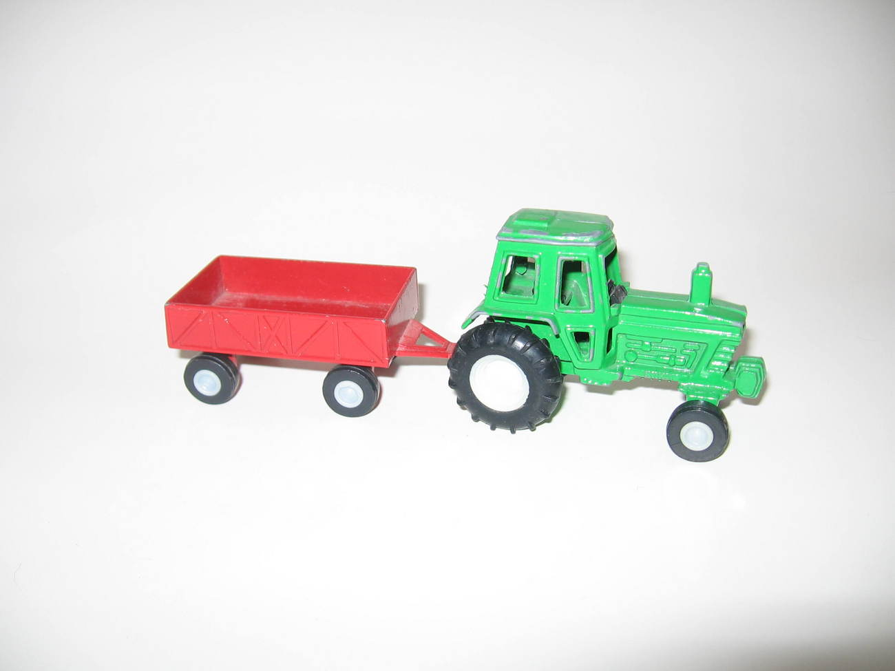 METAL TOOTSIE TOY FARM TRACTOR AND TRAILER Vintage