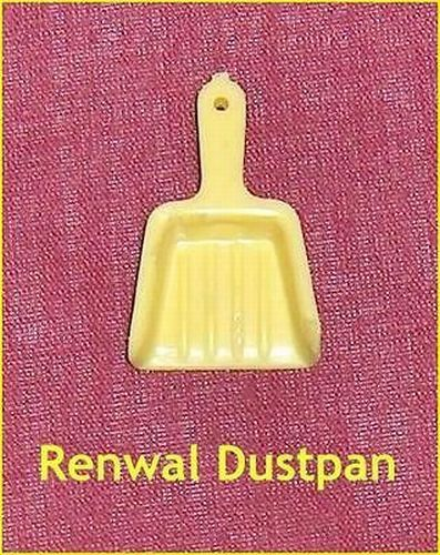 Primary image for Yellow Dustpan Renwal Hard Plastic Dollhouse Furniture Accessory