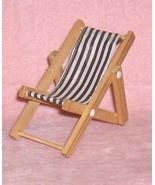 Wooden Lounge or Deck  Chair Wood  Dollhouse Fu... - $6.31