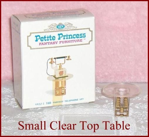 Primary image for Petite Princess Small Clear Top Table  Dollhouse Furniture with Display Box