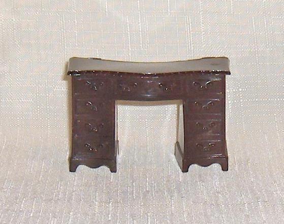 Primary image for Renwal  Brown Vanity or Desk  Plastic Dollhouse Furniture