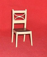 Renwal  Kitchen Chair White with Brown Seat  Plastic Dollhouse Furniture - $9.14