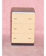 Wooden Chest of Drawers Wood Dollhouse Furniture - $8.21