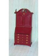 Marx Secretary Desk Hard Plastic Dollhouse Furniture - $15.50