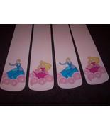 CUSTOM ~ ~ ~Lovely DISNEY Princess Ceilng Fan w/ Cinderella & Snow White - $99.99
