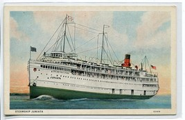 Steamer Juniata Great Lakes Ship 1920s postcard - $6.39
