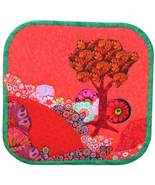 Scarlet Serenity: Quilted Art Wall Hanging - $340.00