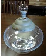 Decorative Round Glass Apothecary Jar w/Metal Lid - $34.60